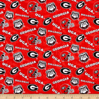 NCAA Georgia Bulldogs 1178 Tone on Tone Red/Black/White