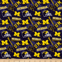 NCAA- Michigan 1178 Tone on Tone Navy/Yellow