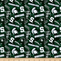 NCAA Michigan State Spartans 1178 Tone on Tone Dark Green/White