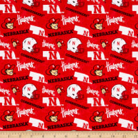 NCAA- Nebraska 1178 Tone on Tone Red/White/Black