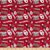 NCAA- Oklahoma 1178 Tone on Tone Red/White