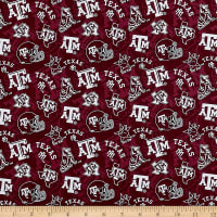 NCAA Texas A&M Aggies 1178 Tone on Tone Maroon/White