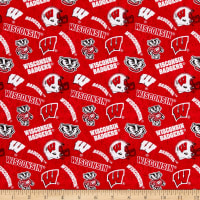 NCAA Wisconsin Badgers 1178 Tone on Tone Red/White/Black