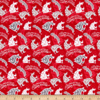 NCAA Washington State Cougars 1178 Tone on Tone Red/Gray/White