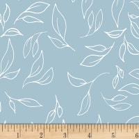 Michael Miller Minky Fantasy Leaves Teal