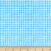 Michael Miller Minky Tiny Gingham Blue