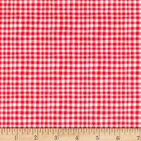 Michael Miller Minky Tiny Gingham Cherry