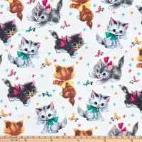 Michael Miller Minky Kitties Cream