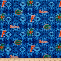 NCAA Florida Tye Dye Flannel Orange/Green/Blue