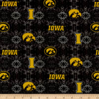 NCAA Iowa Hawkeyes Tye Dye Flannel Yellow/Black/Gray