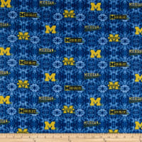NCAA- Michigan 1191 Tye Dye Flannel Yellow/Blue/Navy