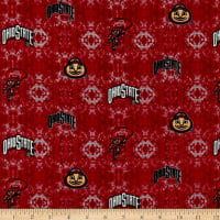 NCAA Ohio State Tye Dye Flannel Red/White/Black