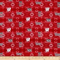 NCAA- Wisconsin 1191 Tye Dye Flannel Red/White/Gray/Black