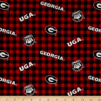 NCAA Georgia Flannel Check Red/White/Black