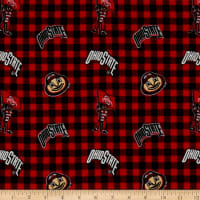 NCAA Ohio State Buckeyes Flannel Check Red/Black/White