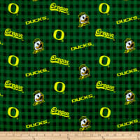 NCAA Oregon Flannel Check Green and Yellow