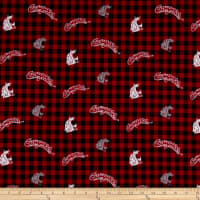 NCAA- Washington State 1192 Flannel Check Red/White/Black/Gray
