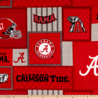 NCAA Alabama Crimson Tide 1177 Patch Fleece Multi