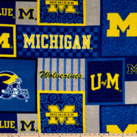 NCAA-Michigan 1177 Patch Fleece
