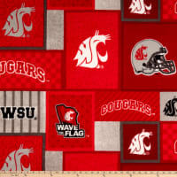 NCAA Washington State Cougars Patch Fleece
