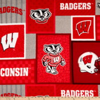 NCAA Wisconsin Badgers 1177 Patch Fleece