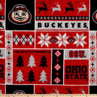 NCAA Ohio State Buckeyes 1182 Ugly Sweater Fleece