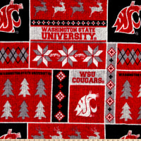NCAA Washington State Cougars 1182 Ugly Sweater Fleece