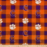 NCAA-Clemson 1190 Buffalo Plaid Fleece