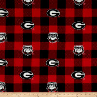 NCAA Georgia Bulldogs Buffalo Plaid Fleece