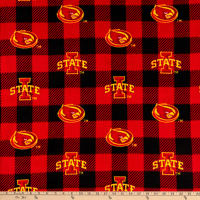 NCAA Iowa State Cyclones 1190 Buffalo Plaid Fleece Red, Black, & Yellow
