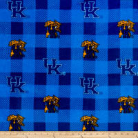 NCAA Kentucky Wildcats 1190 Buffalo Plaid Fleece