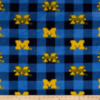NCAA-Michigan 1190 Buffalo Plaid Fleece