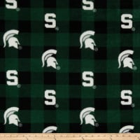 NCAA-Michigan State 1190 Buffalo Plaid Fleece