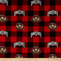 NCAA Ohio State Buckeyes 1190 Buffalo Plaid Fleece