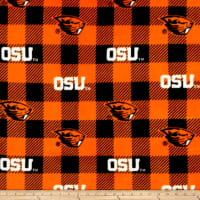 NCAA Oregon State Beavers Buffalo Plaid Fleece