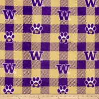 NCAA-Washington 1190 Buffalo Plaid Fleece