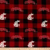 NCAA-Washington State 1190 Buffalo Plaid Fleece