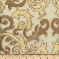 Davinci Burnout Velvet #1 Cream/Gold