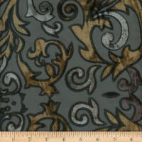 Davinci Burnout Velvet #3 Black/Gold