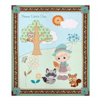 "Precious Moments Woodland Baby Boy Digital Print Blue 36"" Panel"