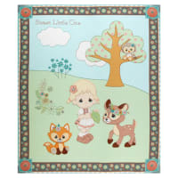 "Precious Moments Woodland Baby Girl Digital Print Green 36"" Panel"