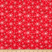 Precious Moments Snow Much Fun Christmas Snowflake Digital Print Red