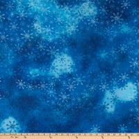 Precious Moments Snow Much Fun Christmas Digital Print Blue