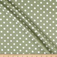 Liverpool Double Knit Polka Dot Sage/Ivory