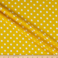 Liverpool Double Knit Polka Dot Yellow/Ivory