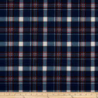 Liverpool Double Knit Plaid Navy/Ivory