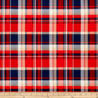 Liverpool Double Knit Plaid Red/Navy