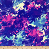 Pine Crest Fabrics Berry Mist Stretch Tricot Blue/ Pink