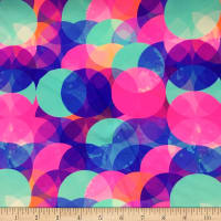 Pine Crest Fabrics Pastel Overlap Stretch Tricot Pink/ Blue