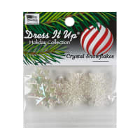 Dress It Up Embellishment 9pc - Crystal Snowflakes